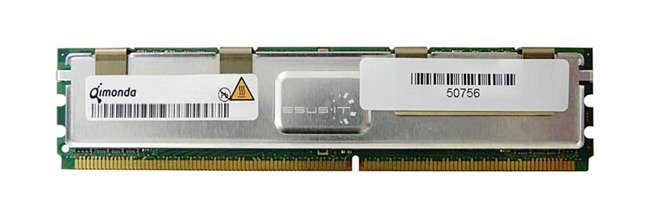Memory RAM 1x 2GB QIMONDA ECC FULLY BUFFERED DDR2 800MHz PC2-6400 FBDIMM | HYS72T256420HFA-25F-B